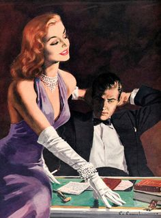 """""""Illustration from a womens magazine """" by The Fine Art Masters Retro Kunst, Retro Art, Pulp Fiction Kunst, Vintage Comics, Vintage Art, Vintage Romance, Art Romantique, Pin Up, Vintage Couples"""