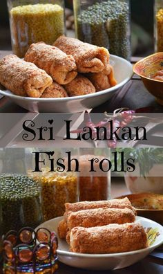 Sri Lankan rolls or simply 'rolls' is an every day 'short eat' that we Sri Lankans enjoy. Also known as Ceylonese rolls, each roll has a rich filling of fish, meat or vegetables wrapped in a pancake and bread crumbs which is then deep fried in oil. Tea Recipes, Fish Recipes, Seafood Recipes, Indian Food Recipes, Appetizer Recipes, Chicken Recipes, Ethnic Recipes, Fish Roll Recipe, Rolls Recipe