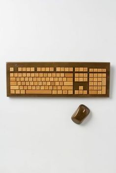 Anthropologie Bamboo Keyboard & Mouse