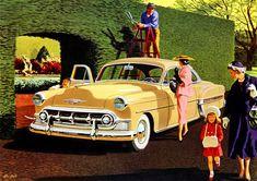 Plan59 :: Classic Car Art :: Vintage Ads :: 1953 Chevrolet Bel Air by Stan Galli