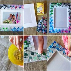 rámeček na fotky z mozaiky