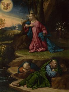 The Agony in the Garden / La angustia en el huerto // probably about 1520-1539 // Garofalo // © The National Gallery,London // #Jesus #Christ #Cristo