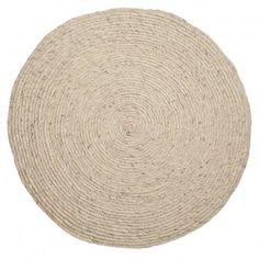 Round rug  - light grey  Bloomingville