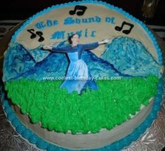 Homemade Sound of Music Cake: I made this Sound of Music Cake for the closing night party of a production of The Sound of Music. It was a rich, chocolate cake with cream cheese icing.