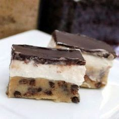 Chocolate Chip Cookie Dough and Cheesecake Bites
