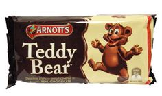 Delicious crunchy teddy bear shaped biscuits covered in Arnotts REAL CHOCOLATE.