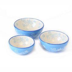 temp-tations® by Tara: temp-tations® Floral Lace Set of 3 Nesting Prep Bowls
