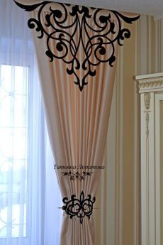 This type of country curtains is honestly a powerful design construct. Unique Curtains, Home Curtains, Country Curtains, Custom Drapes, Sheer Curtains, Curtain Designs For Bedroom, Folding Bed Frame, Wooden Front Door Design, Boutique Deco