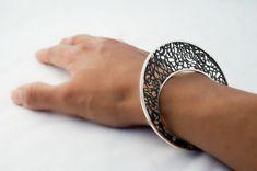 Unique Handmade Filigree Bracelet  Sterling Silver by AlexDeHaro