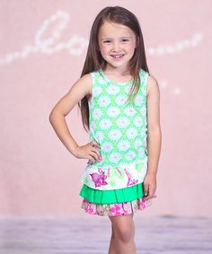 Another great find on #zulily! Green Floral Delilah Dress - Infant, Toddler & Girls #zulilyfinds