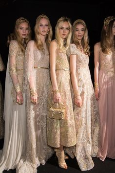 Elie Saab at Couture Fall 2015 - Backstage Runway Photos