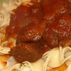 Hungarian Goulash.....this is my favorite recipe for goulash.  I add a little worcestershire sauce and a little brown sugar with the tomato paste and garlic, then transfer to a crock pot and cook on low for 6 hours.  I also increased the Hungarian paprika to 3 TBSP.  Also, if I have some beef broth I use it with less water than called for.  I serve it over egg noodles.....it's fab!