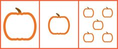 Free printable pumpkin outlines in three sizes to use for all your pumpkin arts and crafts.  #pumpkins #fall #halloween #freeprintable || Gift of Curiosity