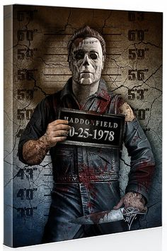 Image of Michael Myers mugshot canvas Michael Myers, Horror Movie Characters, Horror Movies, Hq Marvel, Horror Artwork, Dark Disney, Horror Icons, Arte Horror, Scary Movies