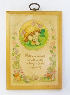 Hallmark Cards Inc. vintage 1980 wood wall plaque mouse