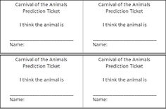 Carnival of the Animals Listening Tickets