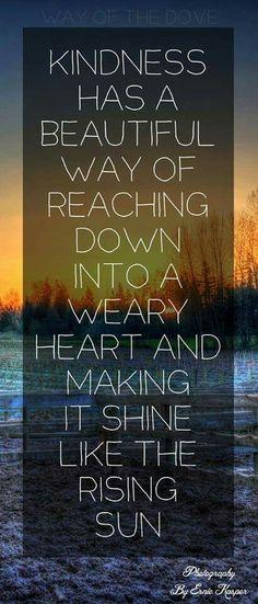 Kindness. ..spread it around
