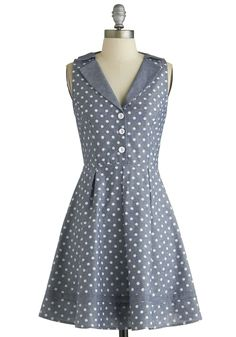Playwright Date Dress in Chambray, @ModCloth