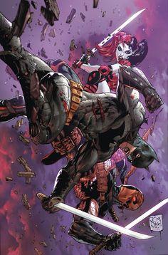 Batman vs Harley Quinn & Deathstroke