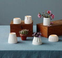 Photophores ou vases en céramique 20 €, chez Maison Aimable / Paris