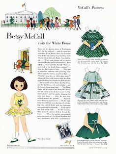 Bonecas de Papel: Betsy McCall visits the White House, 1959