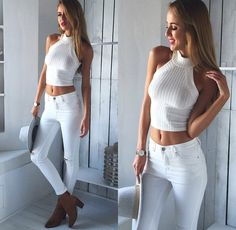 ALL WHITE - Leisa's Instagram screenshot loves… > @Mura_boutique #fashion #womensfashion #style