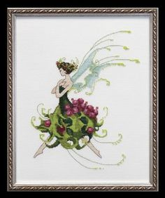 Holly Pixie Couture Collection Cross Stitch Pattern Nora Corbett for sale online Cross Stitch Fairy, Cross Stitch Angels, Cross Stitch Kits, Cross Stitch Charts, Cross Stitch Designs, Cross Stitch Patterns, Hardanger Embroidery, Cross Stitch Embroidery, Embroidery Patterns