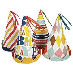 Bright Patterned Party Hats