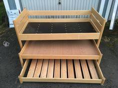 Lasten sänky Bench, Shelves, Storage, Furniture, Home Decor, Purse Storage, Shelving, Decoration Home, Room Decor