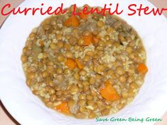 Save Green Being Green: Make It Monday: Slow Cooker Curried Lentil Stew