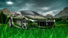 Maserati Alfieri Crystal Nature Car 2014 Green Grass