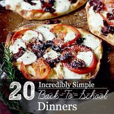 Grab a little inspiration from these 20 incredibly simple meals to get dinner on the table quickly so you can spend more time with the family!