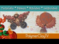 How to use your polymer clay molds in new ways- create a butterfly and a pendant. The trick is to see your molds in new ways. Sometimes when you lay them out on the table, and really look at them, you can see connections. Polymer Clay Pendant, Polymer Clay Art, Diy Clay, Clay Tutorials, Clay Molds, Clay Jewelry, Being Used, Videos, Projects To Try