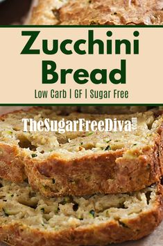 This delicious recipe for Sugar Free Homemade Zucchini Bread is sure to be a favorite for you and your friends and family as well. Sugar Free Zucchini Bread, Sugar Free Bread, Moist Zucchini Bread, Sugar Free Baking, Zucchini Bread Recipes, Sugar Free Muffins, Sugar Free Zucchini Brownies, Sugar Free Quick Breads, Diabetic Desserts