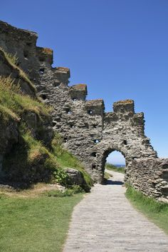 Tintagel Castle in Tintagel, Cornwall