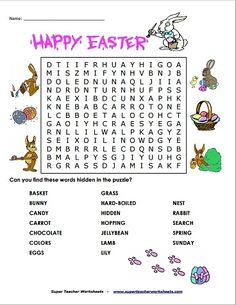 While we are in the Easter spirit, we wanted to share this awesome Easter word search with you! Challenge your students to find all the words that remind us that spring has sprung! Happy hunting!