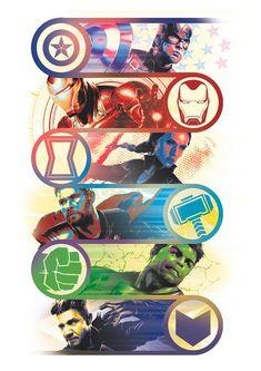 'Avengers: Endgame' Promo Art Reveals New Looks for Captain Marvel, Ronin, Thanos, and More - Marvel Comics Fan Captain Marvel, Marvel Avengers, Marvel Art, Marvel Heroes, Captain America Art, Avengers Games, Thanos Marvel, Poster Marvel, Films Marvel