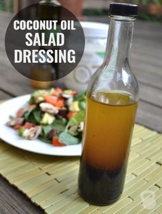 This simple salad dressing with coconut oil, olive oil and vinegar. So easy and so good! via Noelle Tarr Source by CoconutsKettles Coconut Oil Salad Dressing Recipe, Vinegar Salad Dressing, Salad Dressing Recipes, Salad Dressings, Easy Salads, Healthy Salads, Healthy Recipes, Healthy Oils, Keto Recipes