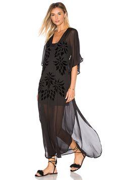 Cleobella x Zella Day for REVOLVE Western Floral Dress in Sheer Black
