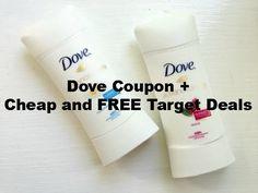Dove Deodorant Coupon = Cheap Target Deals