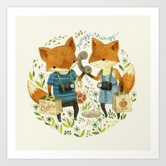 Fox Friends Art Print by Teagan White - $17.00