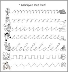 * Schrijven met Piet! Teaching Handwriting, Handwriting Practice, Saint Nicholas, Craft Activities For Kids, Free Prints, Writing Skills, Creative Kids, Fine Motor Skills, Pre School