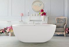Aquatica Corelia-Wht (PureScape 617BM) Freestanding Solid Stone Surface Bathtub