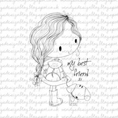 My Best Friend by alldressedupstamps on Etsy, £2.50