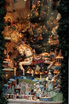 SuperStock - Eastern France, Alsace, Riquewihr, Christmas shop window