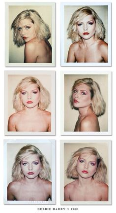Shooting Film: Awesome Polaroid Portraits of Debbie Harry Taken by Andy Warhol in 1980