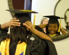 Cassandra Palmer at UMSI graduation. Thanks Lisa Hardman for the ID!