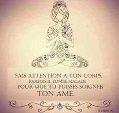 Positive Mind, Positive Attitude, Citations Yoga, Good Quotes For Instagram, Body Is A Temple, French Quotes, Daily Inspiration Quotes, Yoga Quotes, Nature Quotes