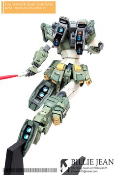 GUNDAM GUY: [Zlpla] 1/60 Full Armor Light Gundam Resin Kit - Painted Build