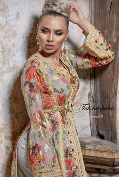 hooting with talented muah by photography by makeupaddict model Morrocan Fashion, Morrocan Dress, Kaftan Moroccan, Oriental Fashion, African Traditional Dresses, Traditional Outfits, Emo Dresses, Fashion Dresses, Modesty Fashion